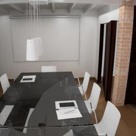 公司会议室室内装饰设计效果图片效果图