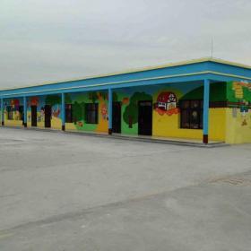 环境布置彩绘墙体彩绘幼儿园环境布置幼儿园彩绘简约风格幼儿园墙体彩绘装修图片效果图