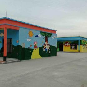 环境布置主题墙墙体彩绘彩绘背景墙幼儿园环境布置简约风格幼儿园墙体彩绘装修图片效果图欣赏