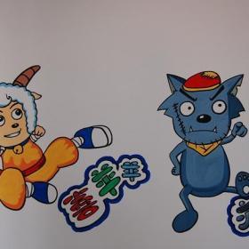 幼儿园教室墙壁画效果图