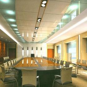 公司会议室室内设计效果图案例效果图