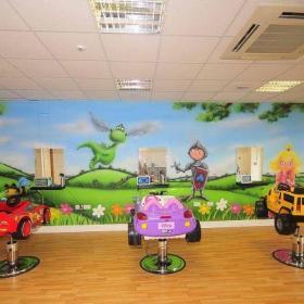 幼儿园活动房墙壁装饰画图片效果图