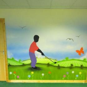 幼儿园壁画装饰图片效果图