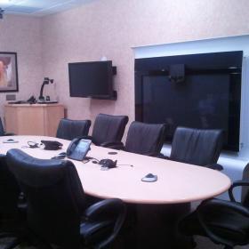 現代30平米多媒體會議室效果圖