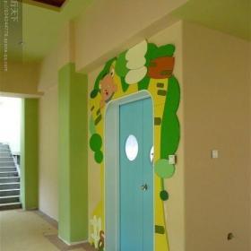 混搭幼儿园室内墙面装饰效果图