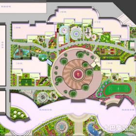 幼兒園建筑平面圖效果圖