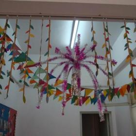 吊饰布置环境布置主题墙工装幼儿园吊饰布置幼儿园环境布置幼儿园装饰图片效果图大全