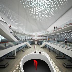 现代图书馆建筑设计 图书馆吊顶设计效果图