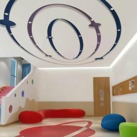 椭圆形吊顶造型幼儿园图片装修效果图