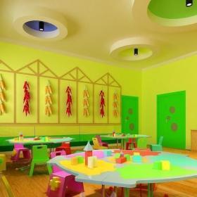 幼儿园墙壁画效果图图库