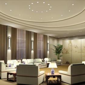 圆弧会议室设计 会议室吊顶效果图