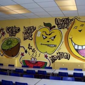 幼儿园壁画教室图片效果图