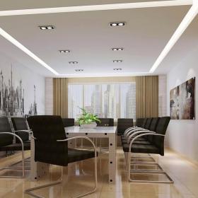 辦公會議室吊頂燈帶裝修效果圖大全