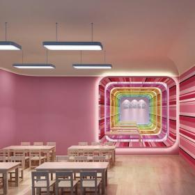 教室布置環境布置公共空間工裝個性現代化幼兒園設計效果圖大全