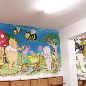 幼儿园墙壁卡通画装饰效果图
