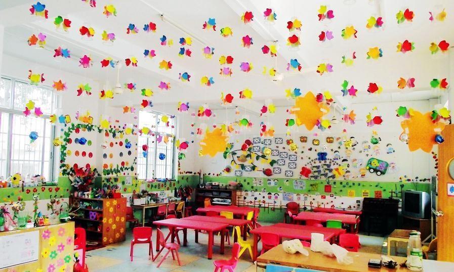 幼儿园教室布置装修效果图 幼儿园大班教室环境设计1图片