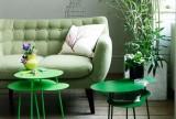 清新90㎡单身公寓客厅沙发茶几绿色的健康环保家效果图大全