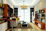 電視組合柜沙發家具茶幾客廳吊燈現代簡約美觀實用的客廳組合柜裝修設計效果圖大全