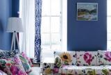 大户型客厅沙发布艺花的世界一片欣欣向荣效果图