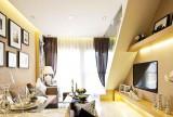 小户型复式50平米55平米空间极致利用客厅过道设计效果图