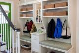 進門鞋柜復式公寓簡歐復式樓公寓客廳進門玄關鞋柜圖片效果圖欣賞