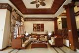 无框画灯具家具吊顶背景墙茶几东南亚风格客厅沙发背景墙装修图片东南亚风格沙发图片效果图大全