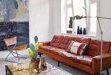 单身公寓沙发茶几北欧风格客厅空间里的做旧家私效果图