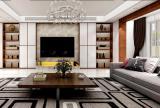 居民樓新房茶幾電視背景墻現代簡約客廳沙發美觀實用的客廳組合柜裝修設計效果圖大全