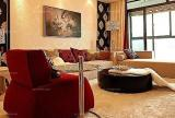 现代客厅婚房布置在奢华中展现经典婚房装修效果图