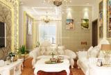 110㎡清新的欧式客厅装修为你带来一片静谧效果图欣赏