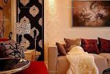 现代客厅110㎡婚房布置豪华贵气的婚房设计装修效果图