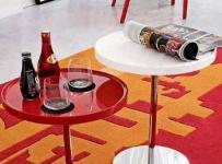 另類紅色客廳茶幾裝修裝飾效果圖