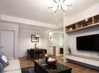 简约风格公寓温馨暖色调富裕型80平米客厅茶几图片效果图