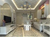 欧式家具欧式客厅电视柜吊顶茶几背景墙沙发140㎡三居地中海风格客厅吊顶装修效果图地中海风格吊灯图片