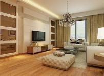 欧式窗帘99平方米简欧风格客厅电视背景墙装修效果图简欧风格电视柜图片