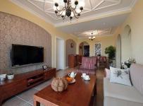 实木茶几电视柜混搭家具沙发三居混搭客厅家具朴素自然的客厅装修图片效果图大全