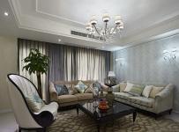 休閑沙發椅壁燈沙發茶幾客廳吊燈簡約歐式小客廳側面整體裝修圖片效果圖大全