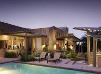 欧式风格家具三层连体别墅客厅豪华原木色设计图效果图