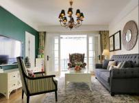椅沙發墻面裝飾簡約歐式茶幾地毯客廳吊燈客廳側面整體裝修圖片效果圖大全