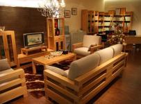 家居摆件电视柜沙发茶几简约风格客厅电视背景墙装修效果图简约风格榉木家具图片