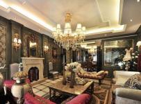 欧式古典四居室客厅吊顶装修效果图