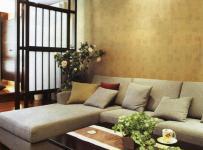 客厅简约灰色沙发效果图