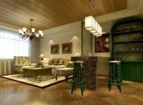 混搭风格二居室客厅吊顶装修图片效果图