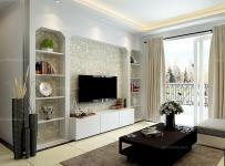 白色電視柜100㎡茶幾背景墻現代客廳茶幾客廳背景墻鑿出個性電視背景墻效果圖