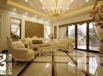 沙發背景墻茶幾吊頂窗簾大戶型480平米別墅歐式風格客廳吊頂裝修效果圖歐式風格雙人沙發圖片
