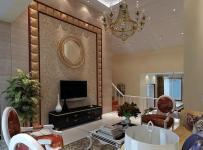 欧式吊顶简欧风格客厅电视背景墙装修效果图简欧风格电视柜图片