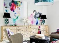 北歐沙發背景墻小戶型沙發絢爛的客廳背景墻設計裝修效果圖