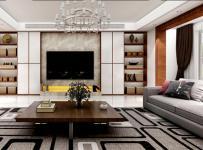 ?#29992;?#27004;新房茶几电视背景墙现代简约客厅沙发美观实用的客厅组合柜装修设计效果图大全