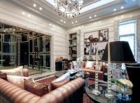 歐式風格別墅客廳裝修效果圖,歐式風格沙發圖片