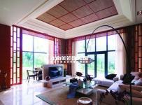 新中式三居室客厅吊顶装修效果图欣赏